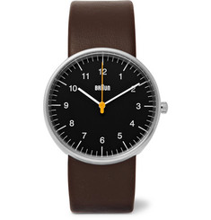 Braun BN002 Stainless Steel and Leather Watch