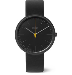 Braun - BN017 Ceramic and Leather Watch