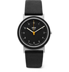 Braun - AW 10 Stainless Steel and Leather Watch