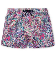 Etro Ponza Mid-Length Printed Shell Swim-Shorts