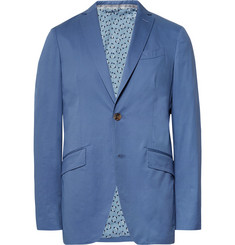 Etro Blue Slim-Fit Stretch-Cotton Suit Jacket