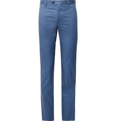 Etro - Blue Slim-Fit Stretch-Cotton Suit Trousers