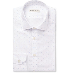 Etro White Fil Coupé Cotton Shirt
