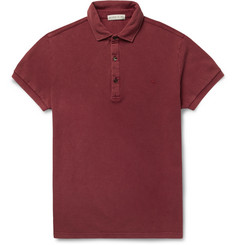 Etro Washed-Cotton Piqué Polo Shirt