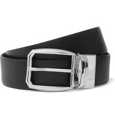 Ermenegildo Zegna - 3.5cm Black Reversible Leather Belt