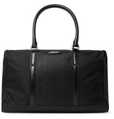 Ermenegildo Zegna Shell and Pelle Tesutta Leather Holdall