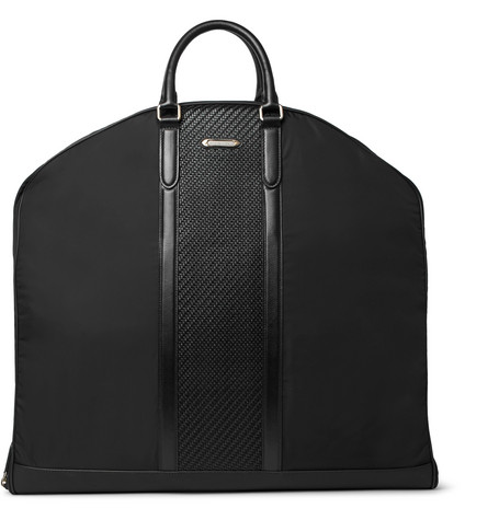 Rubber Trimmed Shell And Pelle Tesutta Leather Suit Carrier by Ermenegildo Zegna