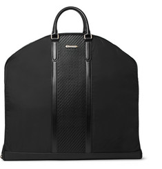 Ermenegildo Zegna Rubber-Trimmed Shell and Pelle Tesutta Leather Suit Carrier