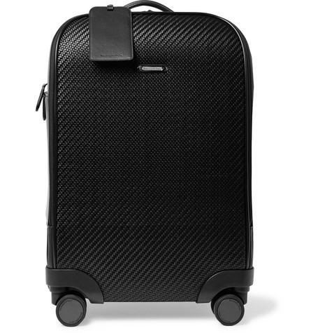 Pelle Tessuta Leather Carry-on Suitcase