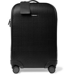 Ermenegildo Zegna Pelle Tessuta Leather Carry-On Suitcase