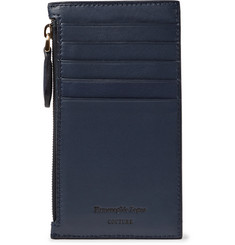 Ermenegildo Zegna Leather Zipped Cardholder