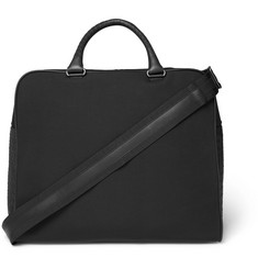 Bottega Veneta Intrecciato Leather-Panelled Canvas Holdall