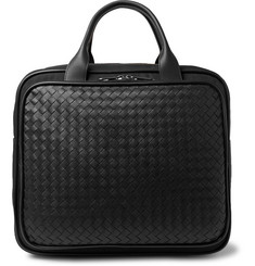 Bottega Veneta  Intrecciato Leather and Canvas Carry-On Bag