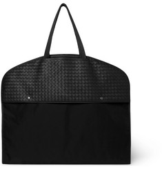 Bottega Veneta - Intrecciato Leather and Canvas Garment Bag