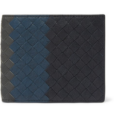 Bottega Veneta Colour-Block Intrecciato Full-Grain Leather Billfold Wallet