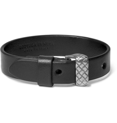 bottega veneta male leather bracelet