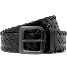 Bottega Veneta 4cm Black Intrecciato Leather Belt