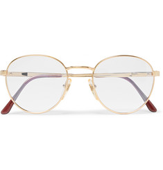 Cutler and Gross Round-Frame Gold-Tone Optical Glasses