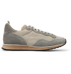 Officine Creative Keino Two-Tone Suede Sneakers