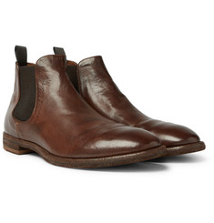Officine Creative Princeton Burnished-Leather Chelsea Boots