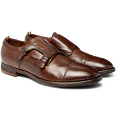 Officine Creative - Princeton Burnished-Leather Monk-Strap Shoes