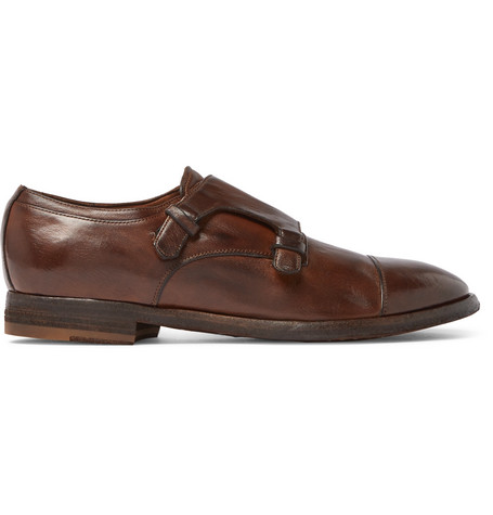 Princeton Burnished-leather Monk-strap Shoes Officine Creative FZ805NH