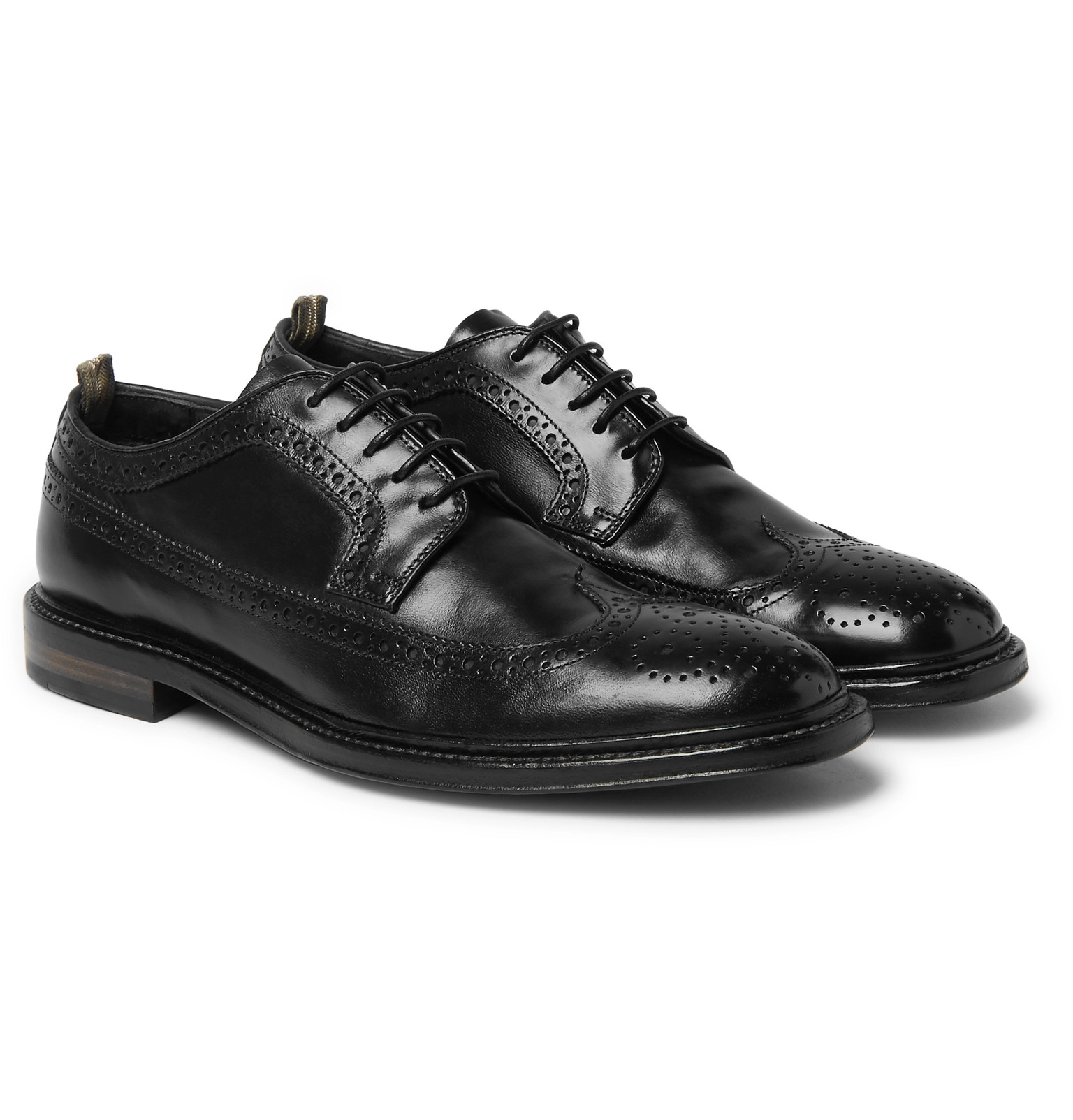 Officine Creative - Cornell Polished-Leather Wingtip Brogues