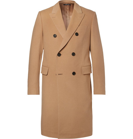 Double-breasted Cashmere Coat - Brown
