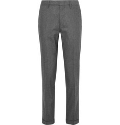 Dunhill Slim-Fit Stretch Wool and Cashmere-Blend Flannel Trousers