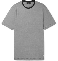 Dunhill Striped Cotton And Mulberry Silk-Blend T-Shirt