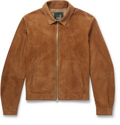 Dunhill Slim-Fit Suede Blouson Jacket