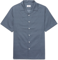 Dunhill Camp-Collar Printed Cotton Shirt
