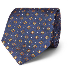 Dunhill 7cm Floral-Print Mulberry Silk-Jacquard Tie