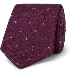Dunhill 7cm Textured Mulberry Silk-Jacquard Tie
