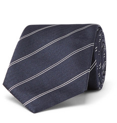 Dunhill 7cm Striped Mulberry Silk Tie