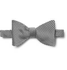 Turnbull & Asser Puppytooth Silk-Jacquard Bow Tie