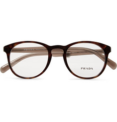 Prada Round-Frame Tortoiseshell Acetate Optical Glasses