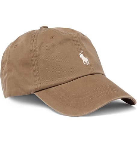 ca9affca Polo Ralph Lauren Cotton-Twill Baseball Cap In Brown | ModeSens