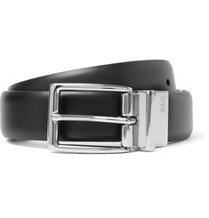Polo Ralph Lauren - 3cm Black and Dark-Brown Reversible Leather Belt