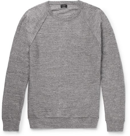 1c295a0e835fd3 J.Crew - Mélange Cotton-Jersey Sweater