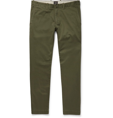 Stretch-cotton Twill Chinos - Green