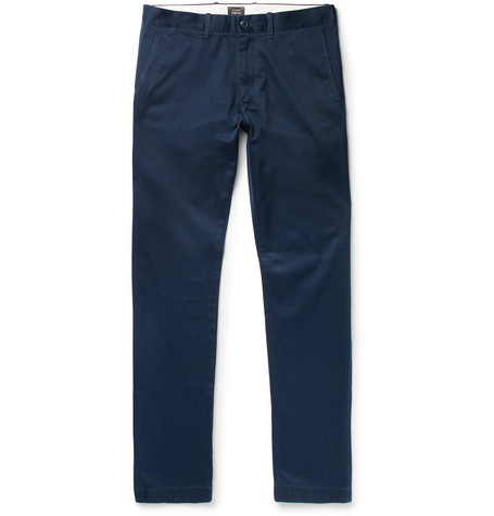 484 Slim-fit Stretch-cotton Twill Chinos - Navy