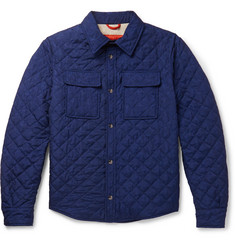 Isaia Quilted Printed Shell Jacket