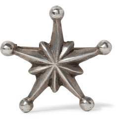 Foundwell - 1980s Burnished Sterling Silver Star Pin