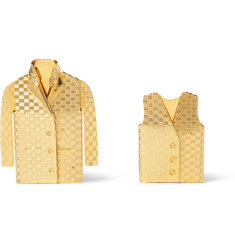 Foundwell Vintage - 1983 Waistcoat and Jacket Gold-Plated Pin Set