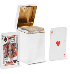 Foundwell Vintage - 1899 Deakin & Francis Sterling Silver Playing Card Case with Two Decks