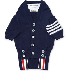 Thom Browne Hector Striped Cashmere Dog Cardigan