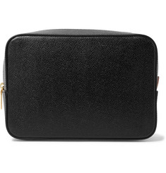 Thom Browne Pebble-Grain Leather Wash Bag