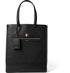 Thom Browne Pebble-Grain Leather Tote Bag