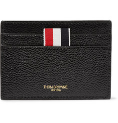Thom Browne Hector-Embossed Pebble-Grain Leather Cardholder
